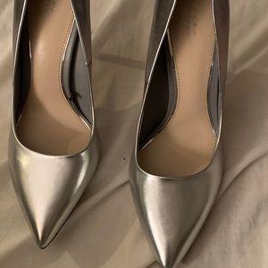 Silver Zara high heel
